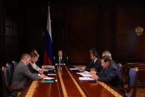 Совещание Д. Медведева с заместителями.
