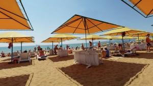 Пляжный отдых в России.