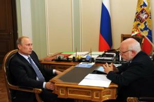 Владимир Путин и Михаил Федотов.