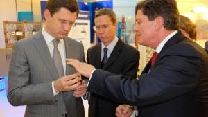 Министр энергетики Российской Федерации Александр Новак посетил Московский научно-исследовательский центр «Шлюмберже».