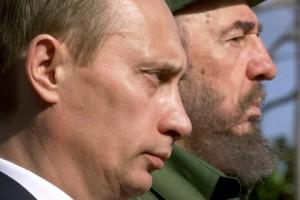 Путин и Кастро.