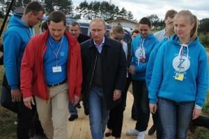 Владимир Путин посетил 10-й Всероссийский молодёжный форум «Селигер-2014».