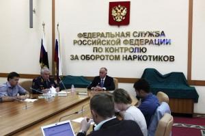 Директор ФСКН России Виктор Иванов на брифинге
