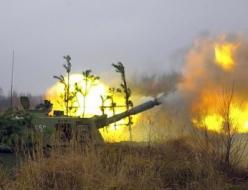 Обстрел территории востока Украины