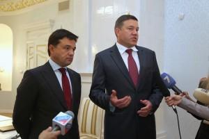 Рабочая встреча Андрея Воробьева и Олега Кувшинникова