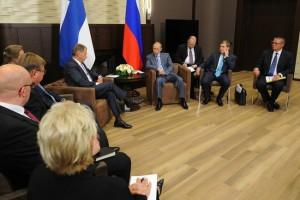 Встреча с Президентом Финляндии Саули Ниинистё