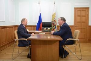Владимир Путин и Александр Карлин