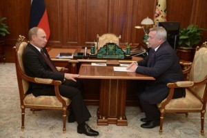 Владимир Путин и Василий Голубев