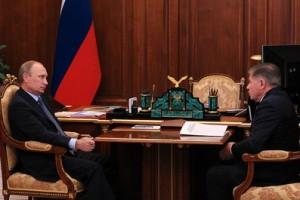 Владимир Путин и Вячеслав Лебедев