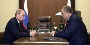 Владимир Путин и Александр Дрозденко