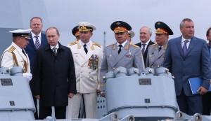 Глава государства Владимир Путин отметил День ВМФ России в Балтийске