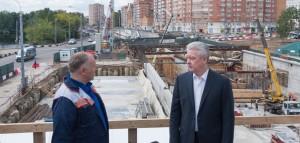 Столичный градоначальник Сергей Собянин рассказал о дорожном строительстве в Москве