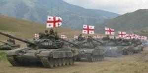 Грузинские танки на подступах к Южной Осетии