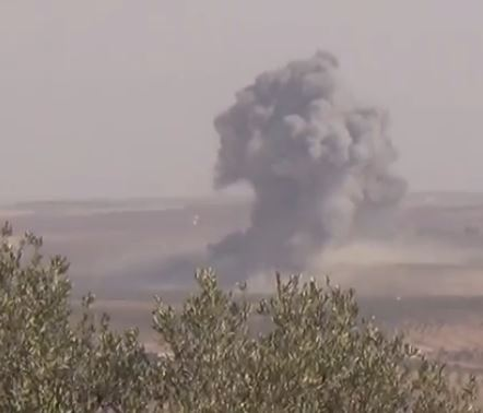 Бомбардировка позиций ИГ