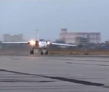 Су-24М на посадке