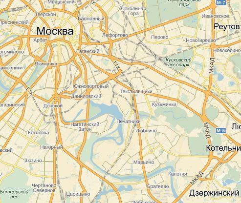 Юго-восток Москвы
