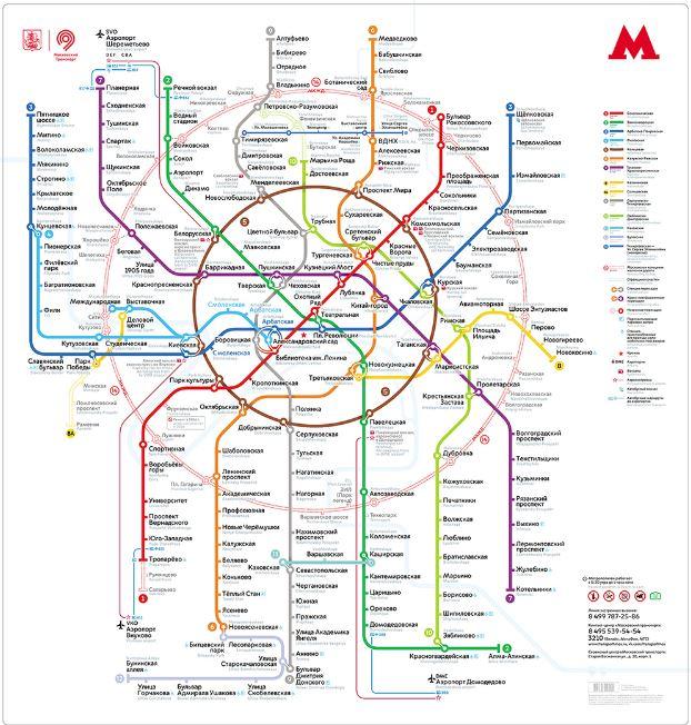 Схема метро мкжд 2016