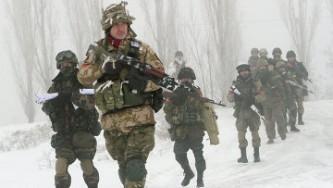 Боевые действия в Донбассе.