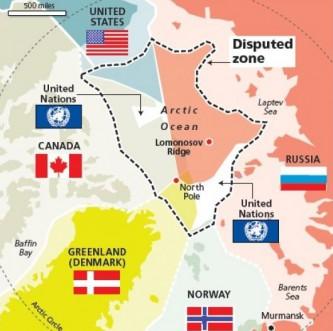 Арктика, распределение территории