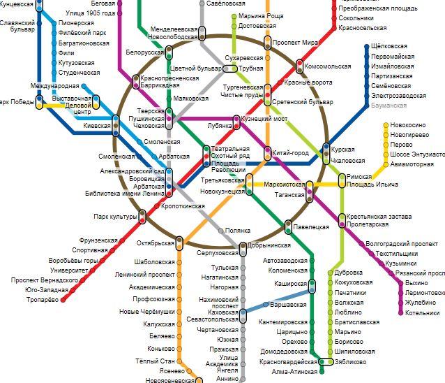 Выбрать на схеме метро