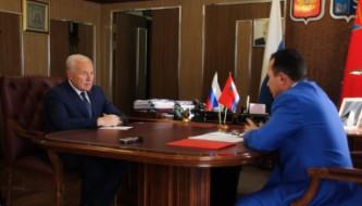 Встреча губернатора Владимира Печеного с Уполномоченным по правам ребенка Денисом Павликом