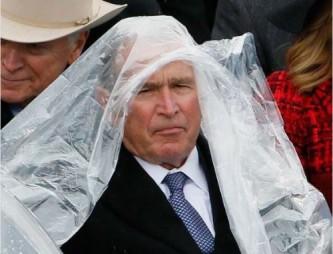 Джордж Буш на инаугурации Дональда Трампа