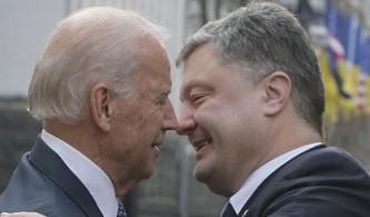 Джо Байден и Пётр Порошенко