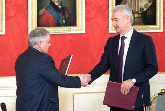 Михаил Ковальчук и Сергей Собянин