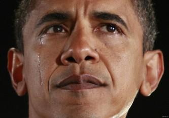 Обама плачет