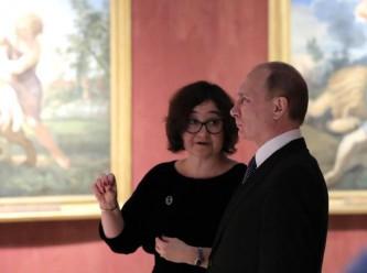 Владимир Путин и Зельфира Трегулова