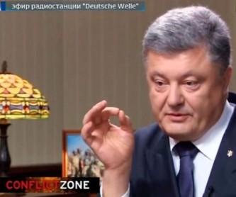 Петр Порошенко дает интервью немецкому СМИ