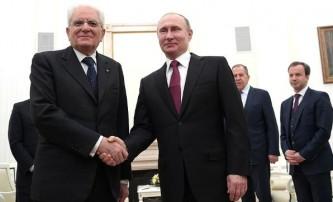 Владимир Путин и Серджо Маттарелла