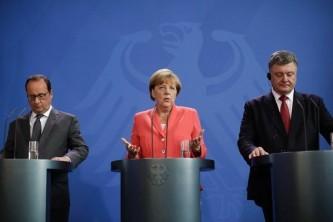 Олланд, Меркель и Порошенко