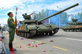 Военный парад в Донецке