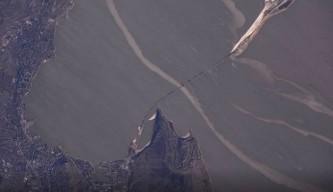 Керченский мост, вид из космоса