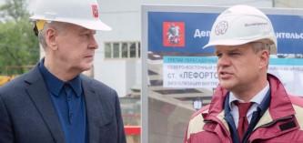 Сергей Собянин осмотрел строительство метро