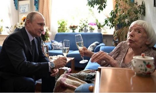 Владимир Путин и Людмила Алексеева