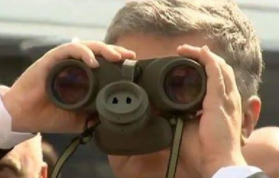 Петр Порошенко рассматривает границу