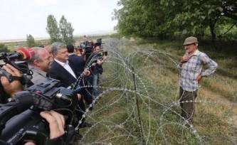 Петр Порошенко у осетинской границы