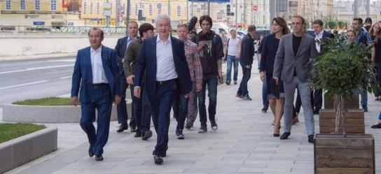 Собянин осмотрел ход реконструкции московских улиц