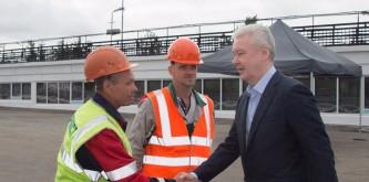 Собянин поблагодарил строителей за ремонт Нагатинского моста