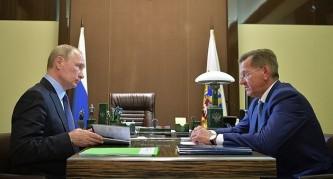 Владимир Путин и Александр Жилкин