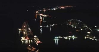 Керченский мост, установка арки