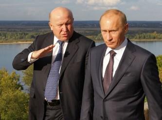 Владимир Путин и Валерий Шанцев