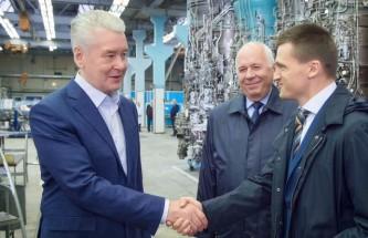 Собянин посетил НПЦ Салют
