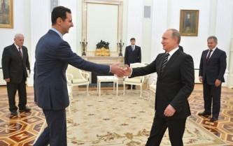 Башар Асад и Владимир Путин в Сочи