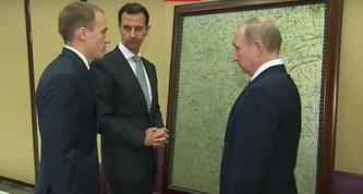 Башар Асад подарил Владимиру Путину картину