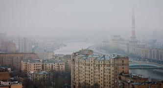 Москва, туман