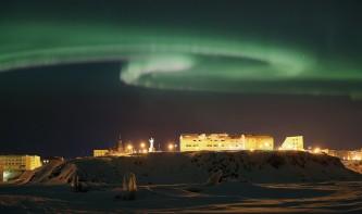 Северное сияние в Анадыре Фото Вадим Матвеичев