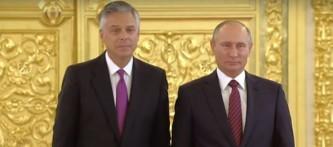 Джон Хантсман и Владимир Путин